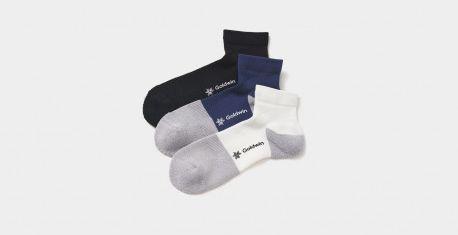 (c)Goldwin Paper Fiber Arch Support Ankle Socks
